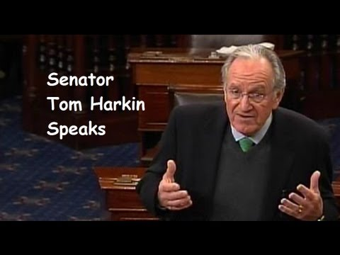 Sen Tom Harkin Speaks - At the Edge of the Fiscal Cliff - December 31, 2012