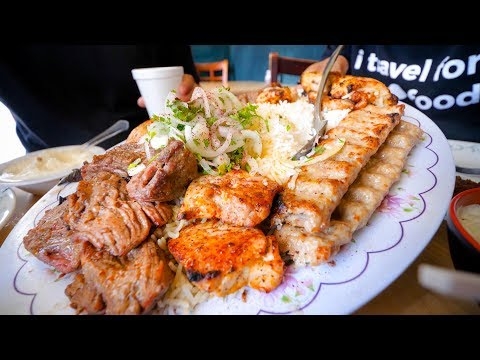 Best Restaurants in Los Angeles - BIG KABOB PLATTER + Must-Eat Food Tour in LA!