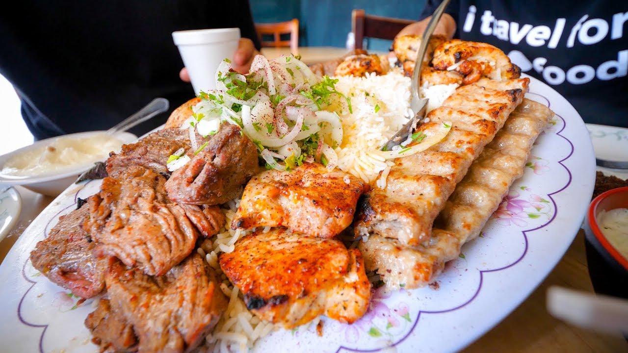 Best Restaurants In Los Angeles Big Kabob Platter Must Eat Food Tour In La