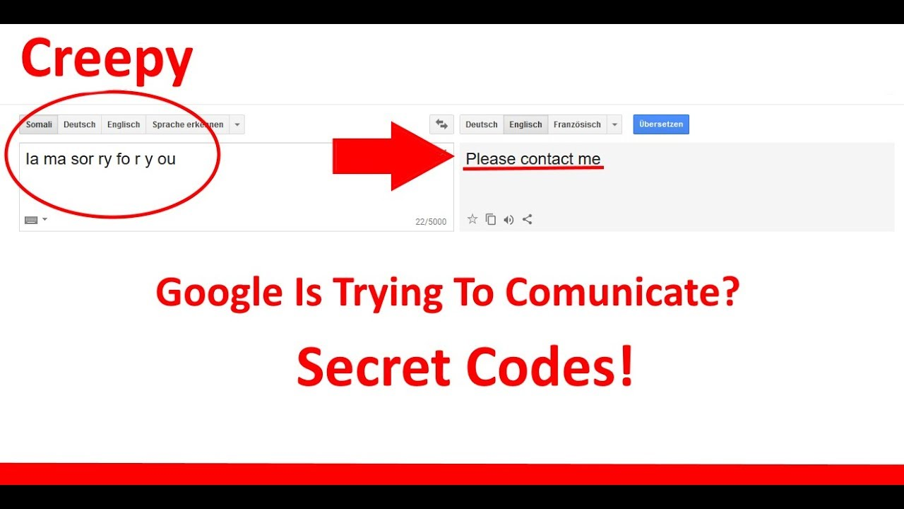 Translate Gate - Google Translate is trying to comunicate with us? Secret Codes with Somali?! - YouTube