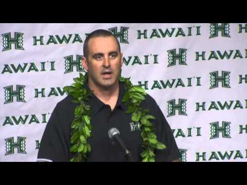 University of Hawai'i New Football Head Coach Nick Rolovich Press Conference