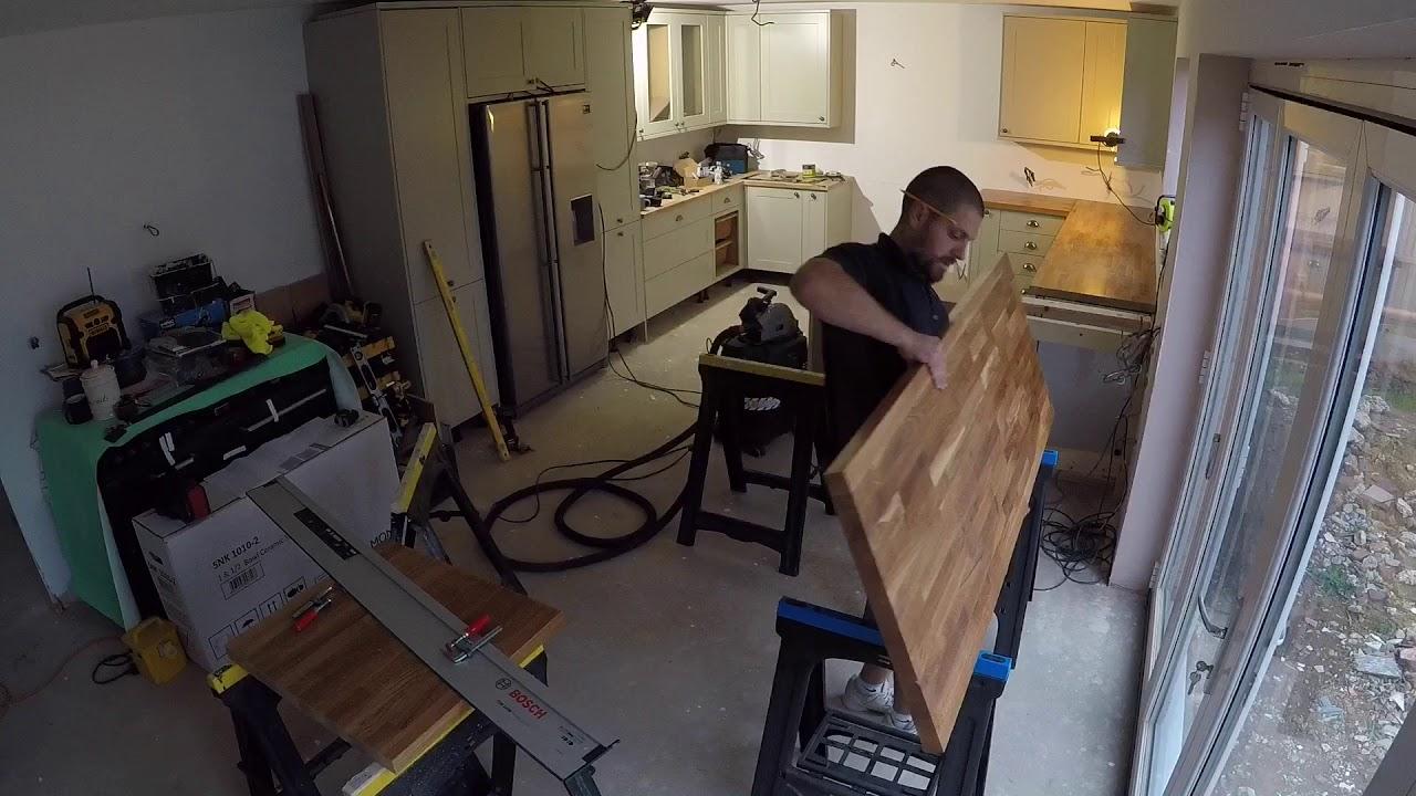 Solid Oak Worktop Fitting Danish Oil