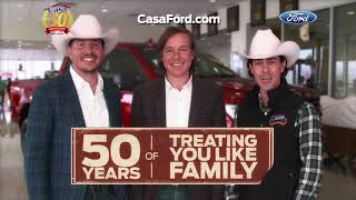 50 years of great value! treating you like family! thanks for making casa ford your home big savings!