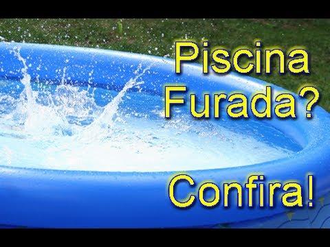 Como arrumar furo na piscina youtube for Piscina de plastico