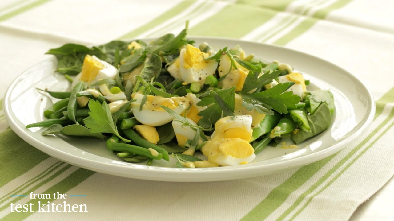 Garden Greens with Chopped Egg Salad From the Test Kitchen YouTube