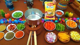 Top 4 Maggi Recipe | Mini Food | Biryani Maggi | Chinese Maggi | Cheese Maggi | Chilly maggi