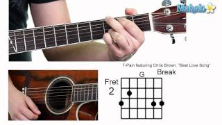 how to play best love song by t pain featuring chris brown on guitar whole lesson