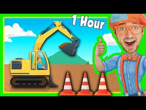Thumbnail: Diggers for Children with Blippi and More | 1 Hour Long!