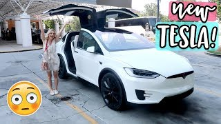 FIRST TIME DRIVING MY NEW TESLA!!!