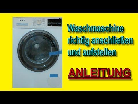 waschmaschine anschlie en richtig aufstellen anleitung youtube. Black Bedroom Furniture Sets. Home Design Ideas