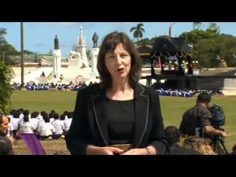 Tonga salutes former king