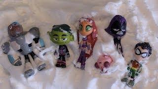 Robin, Raven, Starfire, Beast Boy, Cyborg Silkie JUMP Into Floof SLIME!! Teen Titans GO!