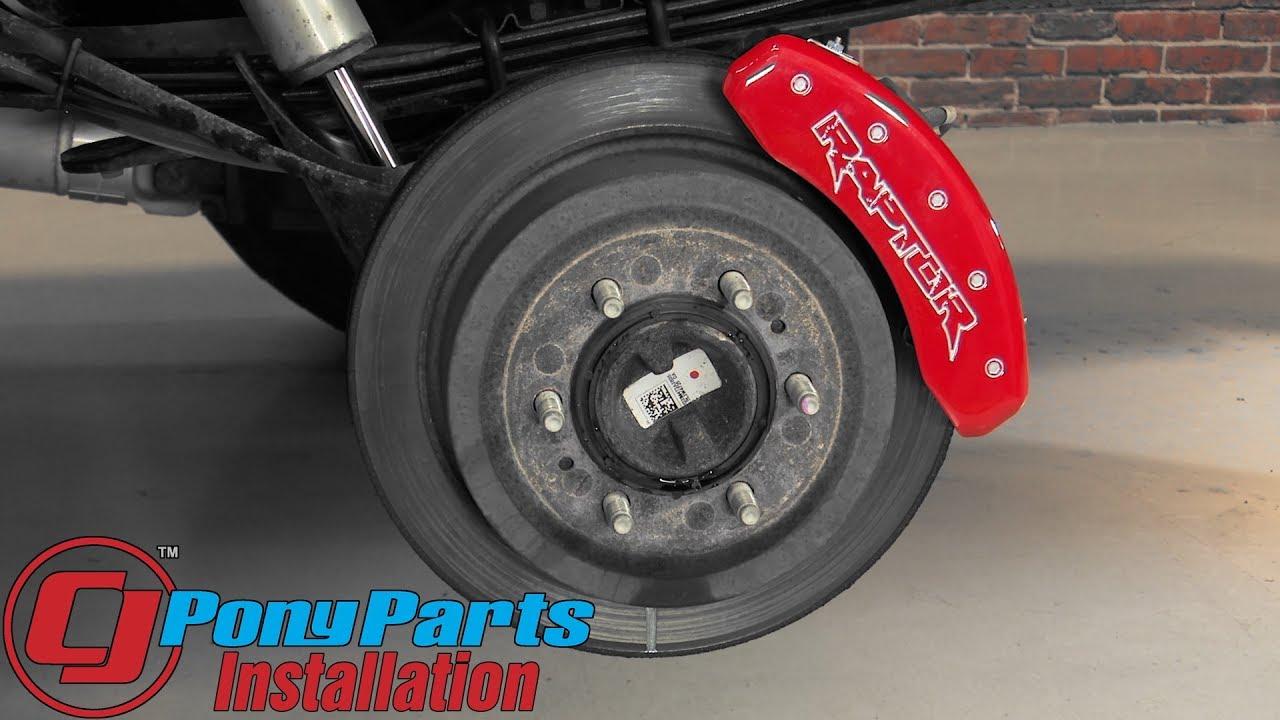 F 150 raptor mgp brake caliper cover set with silver raptor logo red 2012 2014 installation