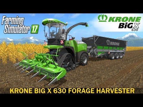 Farming Simulator 17 KRONE BIG X 630 SELF-PROPELLED FORAGE HARVESTER