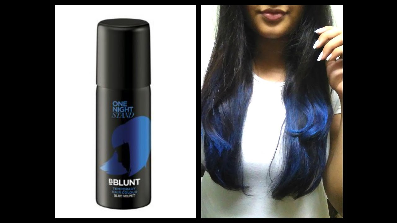 Bblunt Hair Spray Review Blue Youtube