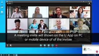 View and invite participants to a meeting | U Meeting Tutorial screenshot 3