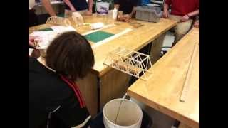 Balsa wood bridge competition.
