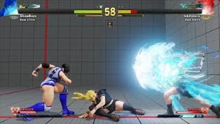 STREET FIGHTER V_ Tekitoloko vs showboyz the power of the chair