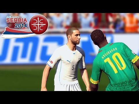 Cameroon vs. Uruguay | jmc World Cup Serbia 2014 | Pro Evolution Soccer 2014 (PES 2014)
