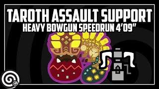 """Taroth Assault Support Speedrun vs Tempered Uragaan 4'09"""" - Monster Hunter World"""