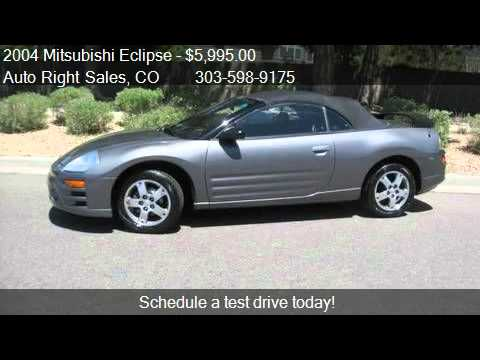 2004 Mitsubishi Eclipse Gs Spyder For In Commerce Cit