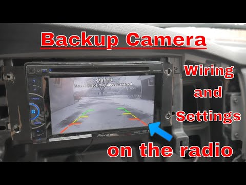 How to wire a backup camera to your radio/indash screen and what settings to use