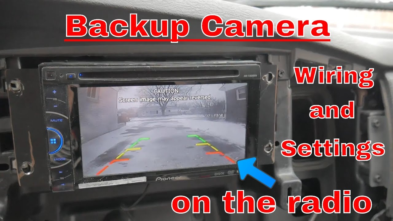 how to wire a backup camera to your radio indash screen and what settings to use [ 1280 x 720 Pixel ]