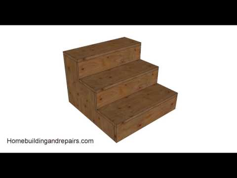 How To Build Three Step Heavy Duty Plywood Stairs
