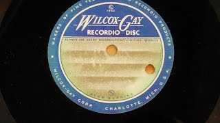 Unknown Hot Steel Guitar Acetate 1950s Texas Playboy Rag.