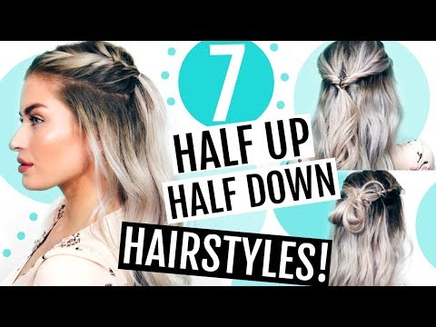 7 HEATLESS HALF UP HALF DOWN HAIRSTYLES
