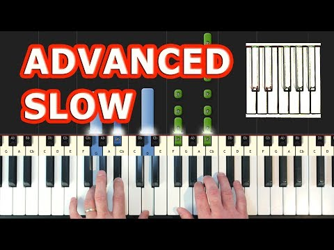 Greensleeves - Piano Tutorial Easy SLOW - How To Play (Synthesia)