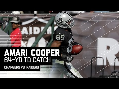 Derek Carr to Amari Cooper for a 64-Yard TD! | Chargers vs. Raiders | NFL