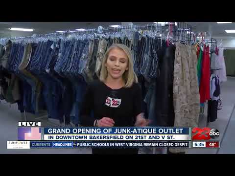 Grand opening of thrift and antique store Junk-Atique