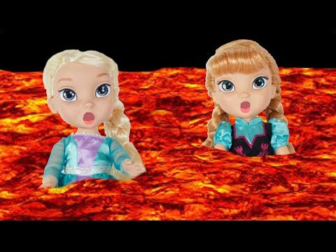 Thumbnail: The Floor is Lava with FROZEN Elsa & Anna toddlers dolls! Come Play Fun Anna eats Candy-Olaf Melts
