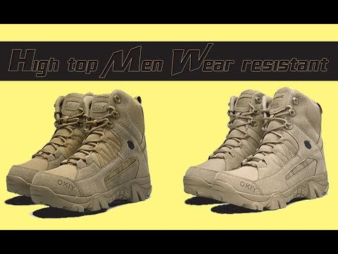 High top Men Wear resistant Sports Boots