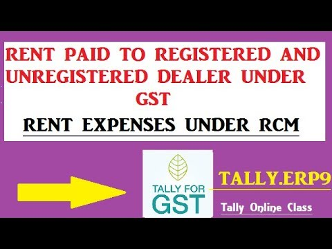 RENT EXPENSES REVERSE CHARGE ENTRIES UNDER GST IN TALLY.ERP9