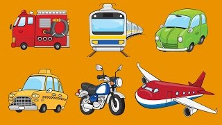 Learn Vehicles for Kids | Talking Flashcards