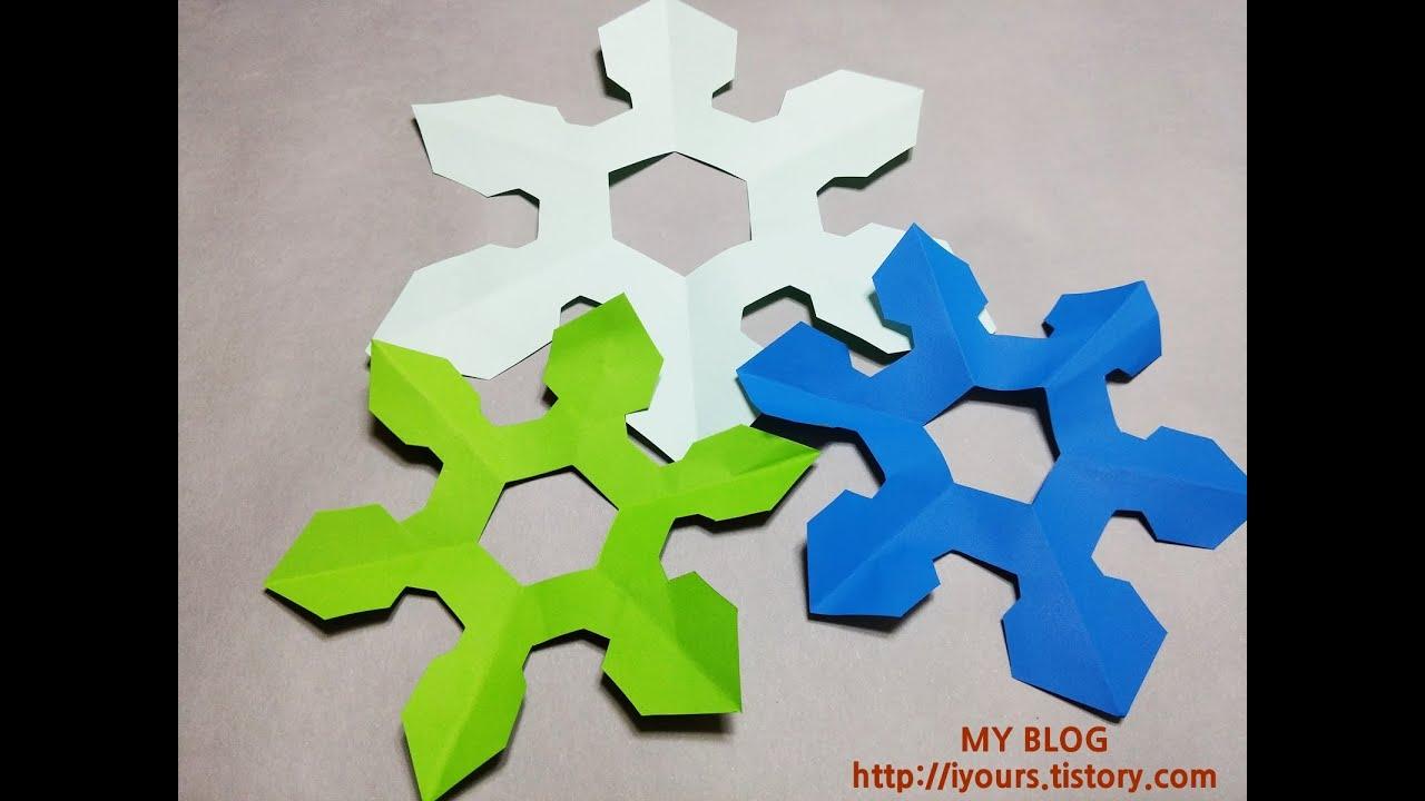 Papercraft Easy Paper Cutting Snow, 쉬운 겨울눈꽃 종이오리기