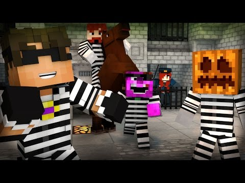 Minecraft Mini-Game: COPS N ROBBERS! (MAX HAS A HORSE!) /w Facecam - Видео из Майнкрафт (Minecraft)