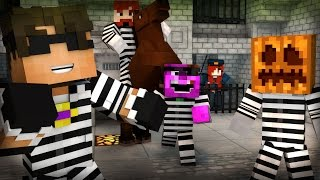 Minecraft Mini-Game: COPS N ROBBERS! (MAX HAS A HORSE!) /w Facecam