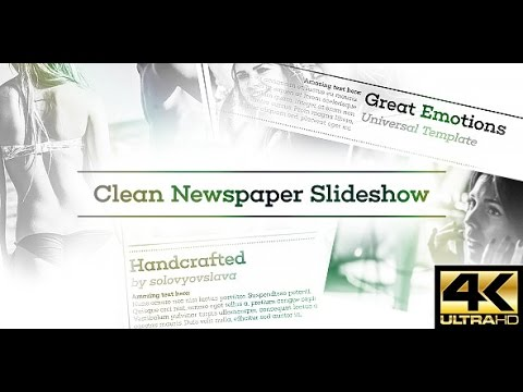 Clean Newspaper Slideshow After Effects Template YouTube - Awesome after effects website template design