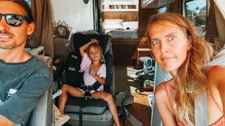 Driving Our TINY HOUSE 12hrs With 2 Kids!