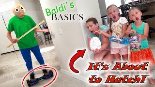 Baldi's Basics in Real Life Steals Our Hatchibaby & Hoverboard! Hatchimals Toy Scavenger Hunt!!