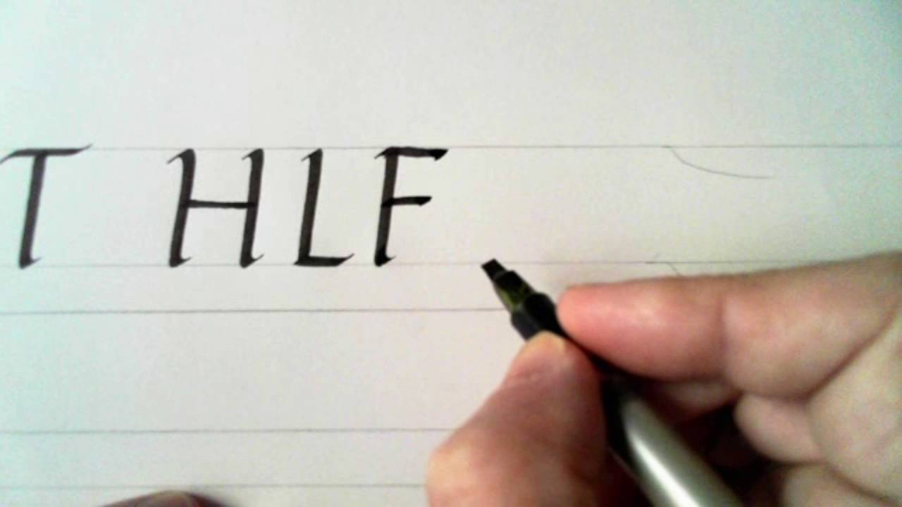 Calligraphy 40 Italic Capitals H L F E