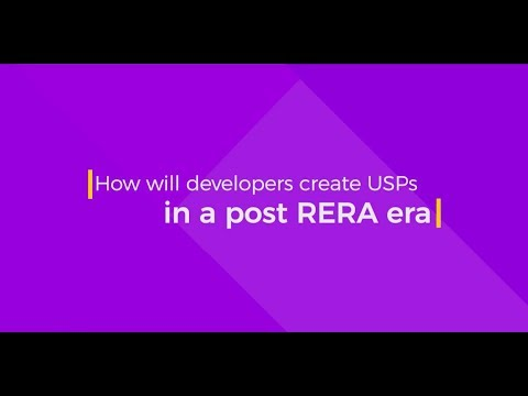 How will developers create USPs in a post RERA era?