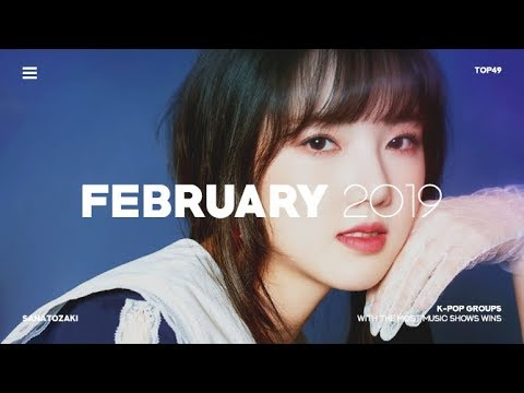 K-POP GROUPS WITH MOST MUSIC SHOW WINS | February 2019