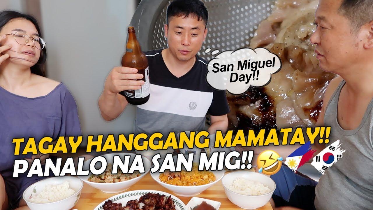 KOREAN 🇰🇷TRIED PINOY BEER WITH CHICHARONG BULAKLAK +PALABOK+BICOL EXPRESS‼️♥️🇵🇭