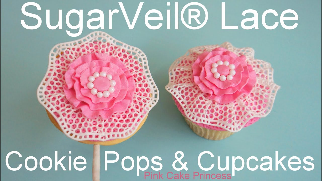 SugarVeil® Icing Edible Lace Wedding Cookie Pops & Cupcakes how-to ...