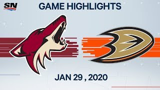 NHL Highlights | Coyotes vs Ducks - Jan. 29, 2020