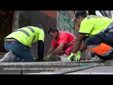 Obras de rehabilitación de espacios públicos en Pamplona
